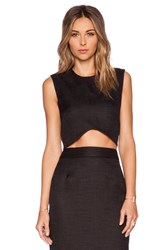 Blaque Label Woven Crop Top Black