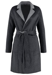 Comma Classic Coat Dark Grey Melange