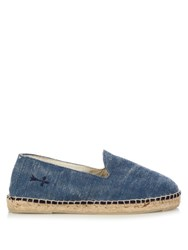 Manebi La Havana Cotton Canvas Espadrilles Blue