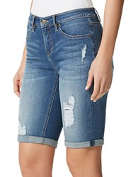Miraclebody Jeans Faith Denim Bermuda Shorts Blue