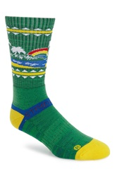 Strideline 'Hawaii Rainbow' Socks Green Yellow