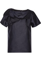 Raoul Asheville Gathered Wool And Silk Blend Top