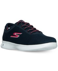 Skechers Women's Go Step Lite Dashing Walking Sneakers From Finish Line Navy Pink