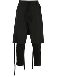 Unravel Project Panelled Short Trousers Black