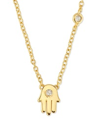Hamsa Pendant Bezel Diamond Necklace Shy By Sydney Evan