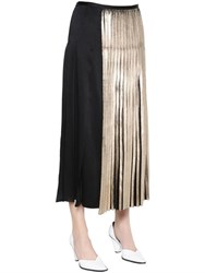 Stella Mccartney Pleated Sable Satin Skirt