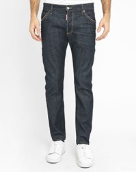 Dsquared Dark Denim Twiggy Boy Zip Jeans Blue