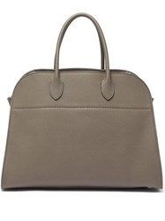 The Row Margaux 15 Medium Leather Tote Bag Grey