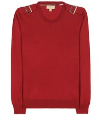 Burberry Knitted Wool Sweater Red