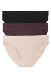 Naked 3 Pack Stretch Modal Modern Panties Barely Pink Black Eggplant