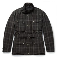 Dunhill Checked Waxed Cotton Jacket Black