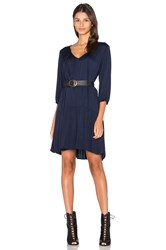 Michael Stars 3 4 Sleeve Drop Waist Dress Navy