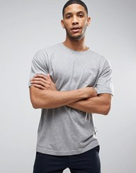 Bellfield T Shirt With Drop Shoulder And Pocket Grey Marl