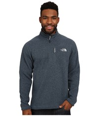 The North Face Gordon Lyons 1 4 Zip Pullover Conquer Blue Heather Men's Long Sleeve Pullover Gray