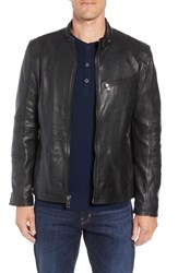 Andrew Marc New York Weston Quilted Leather Moto Jacket Black