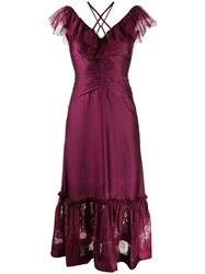 Three Floor Lace In Vision Dress Purple