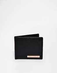 French Connection Leather Wallet With Floral Print Black