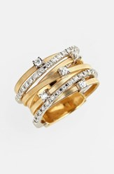 Marco Bicego Women's 'Goa' Seven Band Diamond Ring Yellow Gold