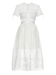 Self Portrait Panelled Lace Midi Dress
