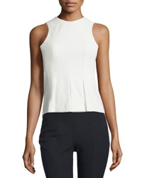 Alexander Wang Sleeveless Paneled Stretch Twill Top Ivory