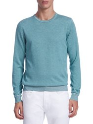 Saks Fifth Avenue Collection Timothy Crewneck Sweater Teal