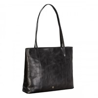 Maxwell Scott Bags Black Leather Shopper