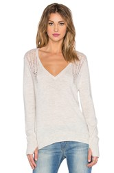 Pam And Gela V Neck Sweater Cream