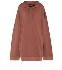Fenty By Rihanna Oversized Cotton Jersey Hoodie Brown