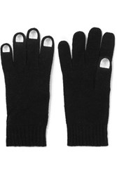 Marc By Marc Jacobs Wild Thing Metallic Trimmed Merino Wool Gloves Black