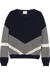 Band Of Outsiders Color Block Silk And Cashmere Blend Sweater