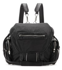 Alexander Wang Marti Leather Trimmed Backpack Black