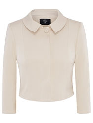Viyella Cropped Occasion Jacket Oyster