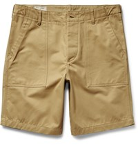 Maison Kitsune Two Tone Cotton Twill Shorts Neutrals