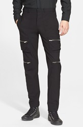 Tim Coppens Slim Fit Cargo Trousers Black
