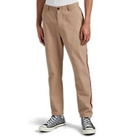 Ovadia And Sons Striped Cotton Straight Chinos Beige Tan