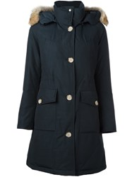Woolrich 'Long Artic' Parka Coat Blue