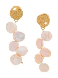 Alighieri La Jetee Pearl Earrings Gold