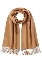 Polo Ralph Lauren Scarf With Virgin Wool And Cotton Camel