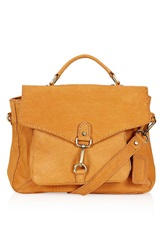 Topshop Leather Satchel Tan