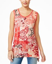 Styleandco. Style Co. Printed Sleeveless Top Only At Macy's Ipanema Orchard