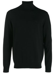 Emporio Armani Roll Neck Jumper Black