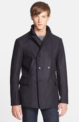 Men's Billy Reid 'Bond' Wool Blend Peacoat