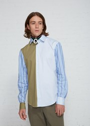 J.W.Anderson Jw Anderson 'S Panelled Classic Shirt In Bamboo Size 46 100 Cotton
