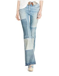 Polo Ralph Lauren Flared Patchwork Jeans Blue