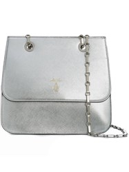 Mark Cross Chain Strap Shoulder Bag Grey