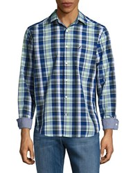 Nautica Classic Fit Plaid Button Down Shirt Patina Green