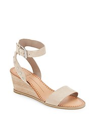 Dolce Vita Lorka Suede Wedge Sandals Taupe