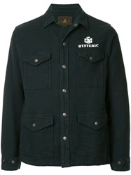 Hysteric Glamour Pocket Front Shirt Jacket Blue