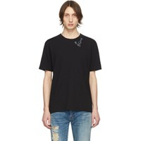 Saint Laurent Black Guitar Print T Shirt