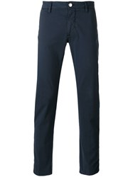 Barba Slim Fit Trousers Blue